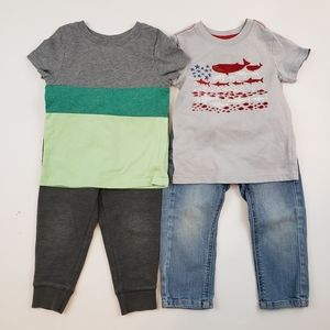 Cat & Jack Boy's 2 Pairs Matching Set 2T
